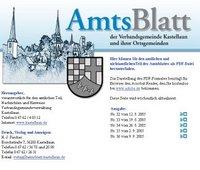 Bild: Screenshot der Onlineausgabe des Kastellauner Amtsblatts